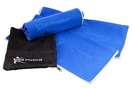 Premium 3 microfibra toalla de Fitness Bundle. Secado Rápido, ideal para gimnasio y viaje