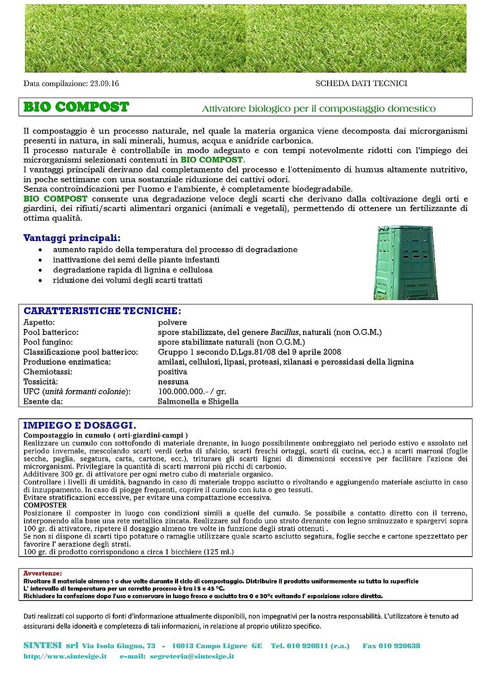Bio Compost Gr.800 Activador biológico compostaje doméstico ...