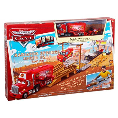 Cars Mini Adventures Radiator Springs Speed Trap Track Set: Toys & Games