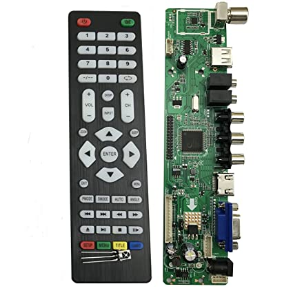 Amazon com: V56 Universal LCD LED TV Controller Driver Board