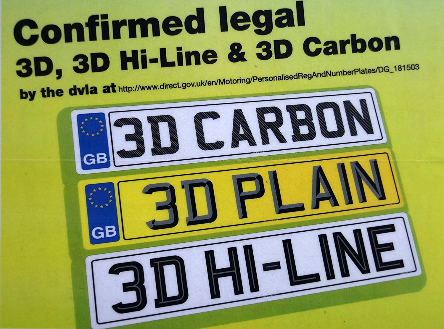 Car Number Plates - MOT/Road Legal - Virtually Unbreakable Top ...