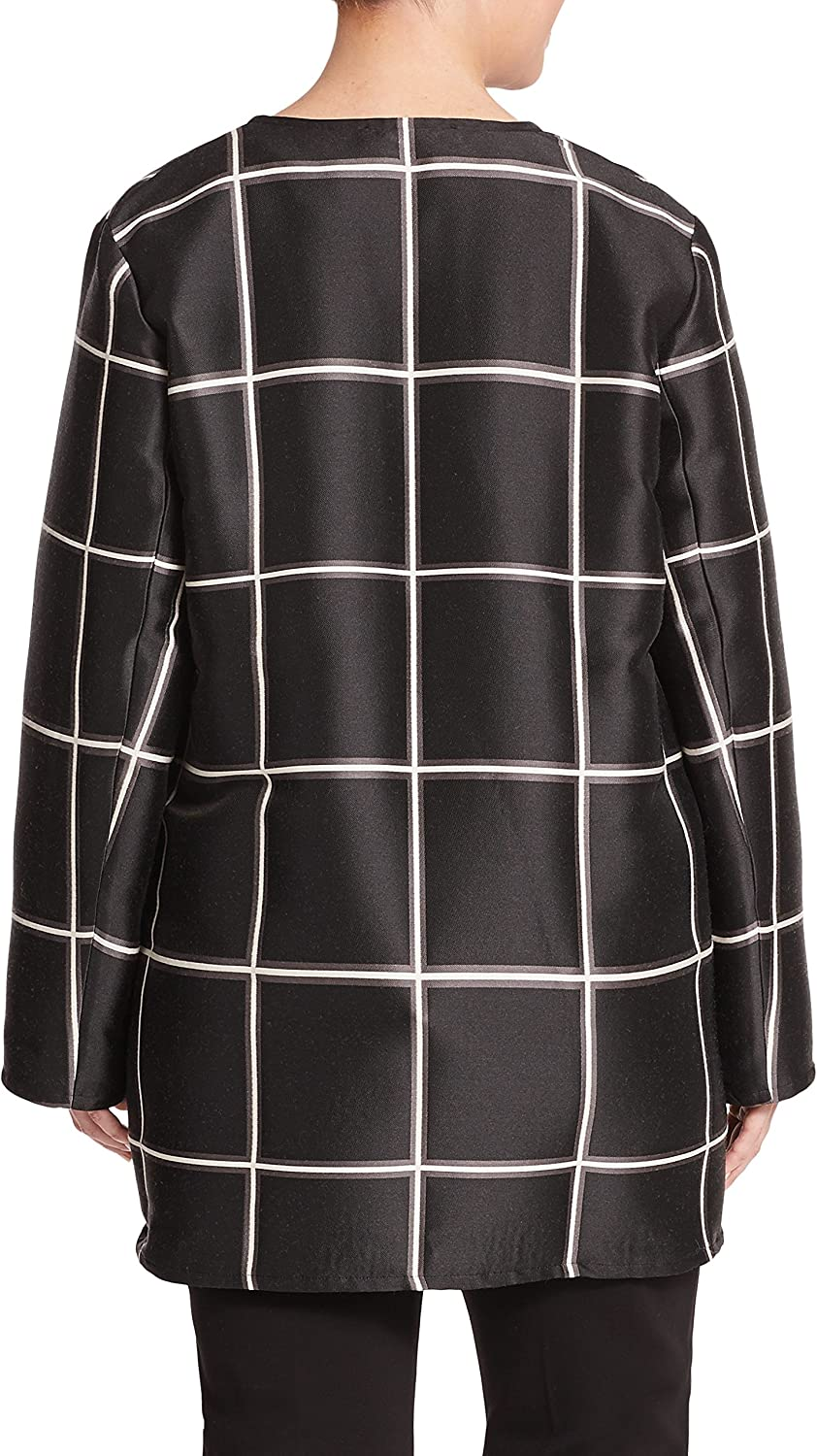 Marina Rinaldi Womens Famoso Check Duster Jacket