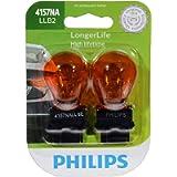 Philips 4157NALLB2 LongerLife Miniature Bulb, 2 Pack