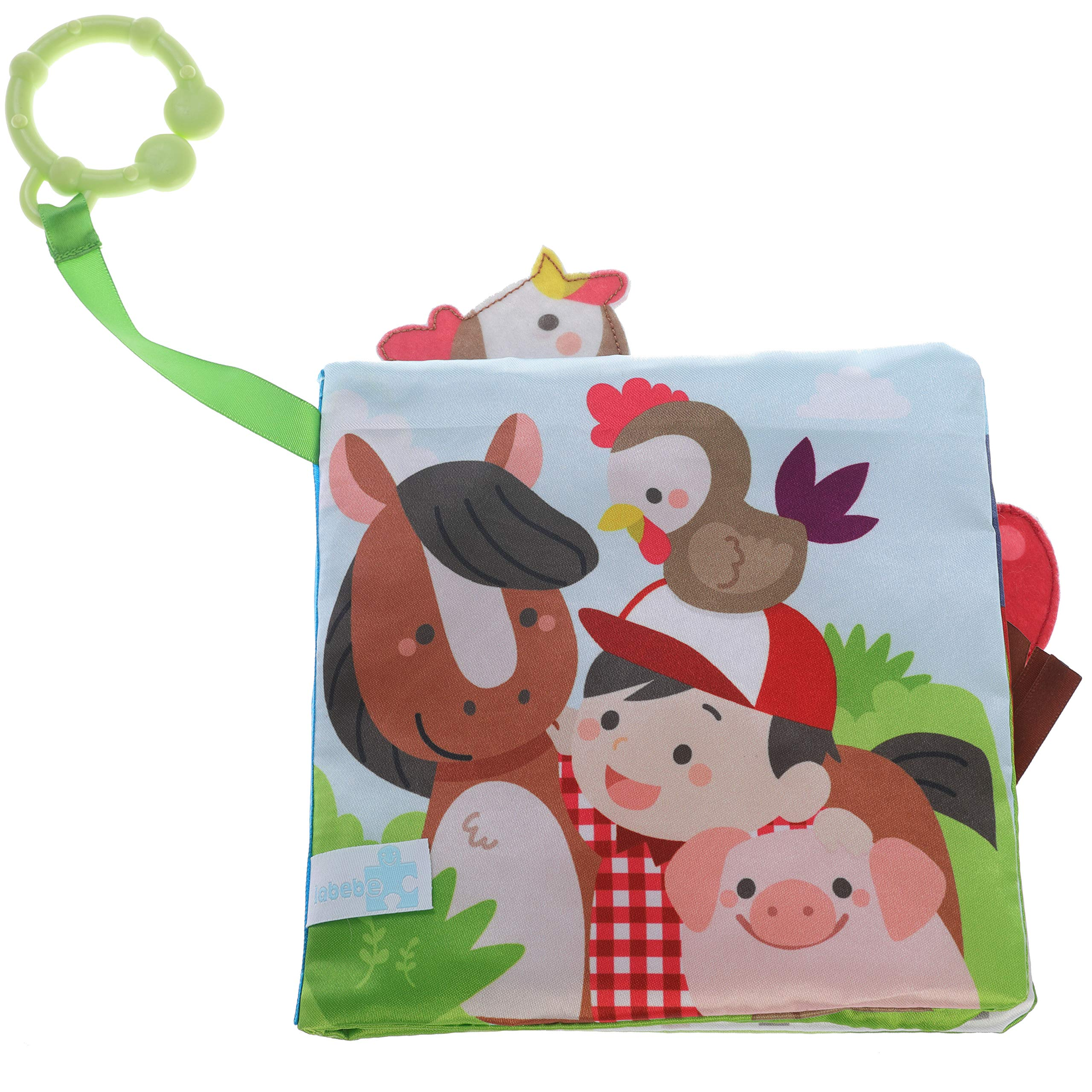 Beautiful Valley Farm Cloth Book for Newborn Babies, 1 Year Old & Toddler Soft Book/Toy Book/Fabric Book