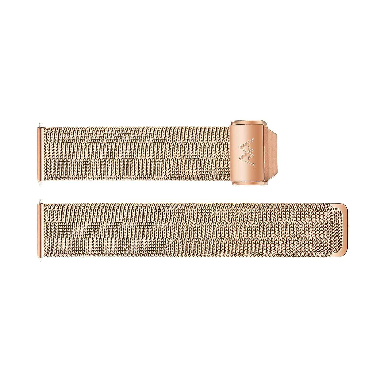 Welly Merck 18 mm/20 mmステンレススチールクイックリリースメッシュストラップInterchangeable Band 18mm ローズゴールド 18mm|ローズゴールド ローズゴールド 18mm B07CM5DPXD