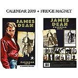 James Dean Calendar 2019 + James Dean Fridge Magnet