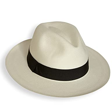 646d9dba Tumi Fino rollable/foldable Panama hat fair trade, hand woven in Ecuador:  Amazon.co.uk: Clothing