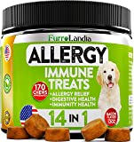 FurroLandia Allergy Relief Immune Supplement for Dogs - Seasonal & Food Allergies - Skin Itch, Hot Spots and More…