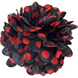Red with Black Spots Spanish Flamenco Style Hair Flower