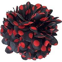 La Señorita Flores Flamenco Negro con Puntos Rojo