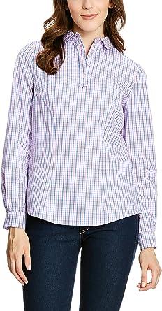 Nife Camisa Mujer Azul Claro/Blanco/Rosa ES 44 (DE 42 ...