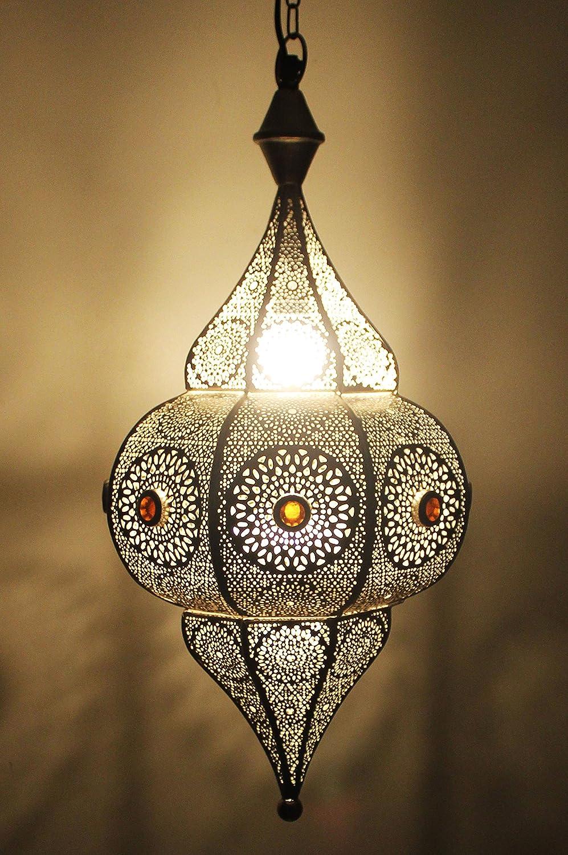 trasmettere un eccellente raffinata decorazione lampada a sospensione Lampada da soffitto Elif Argento 50cm- molto pratica per un ottima illuminazione Lampada orientale marocchina