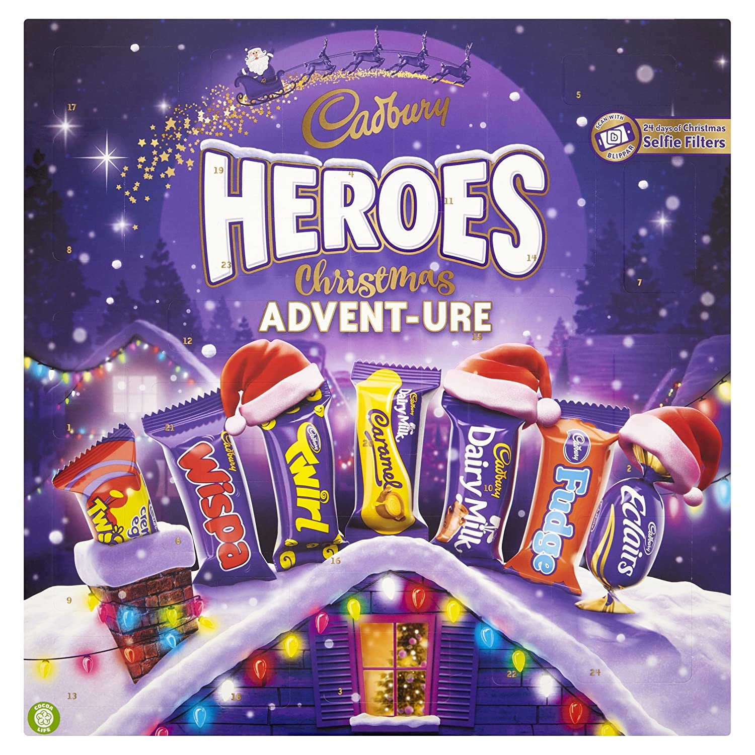 Cadbury Dairy Milk Heroes Advent Calendar