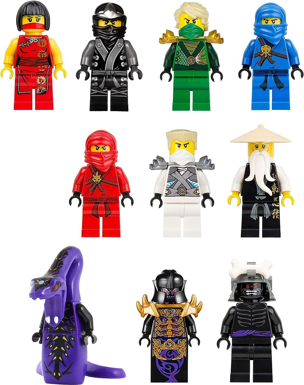 10 Lego Ninjago Mini Figure Vinyl Wall Decal Colourful Available In 6 Sizes Amazon De Kuche Haushalt