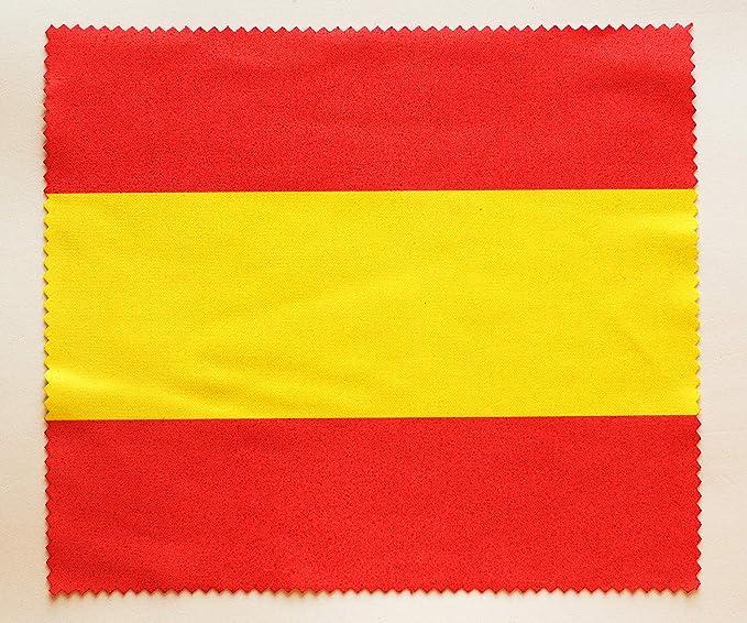 Paño Microfibra con la Bandera española Limpia Lente | Limpia Polvo | Limpiador cámara | Limpiador de Pantalla | Gamuza Suave para Gafas | Regalo Original | Bandera de España: Amazon.es: Hogar