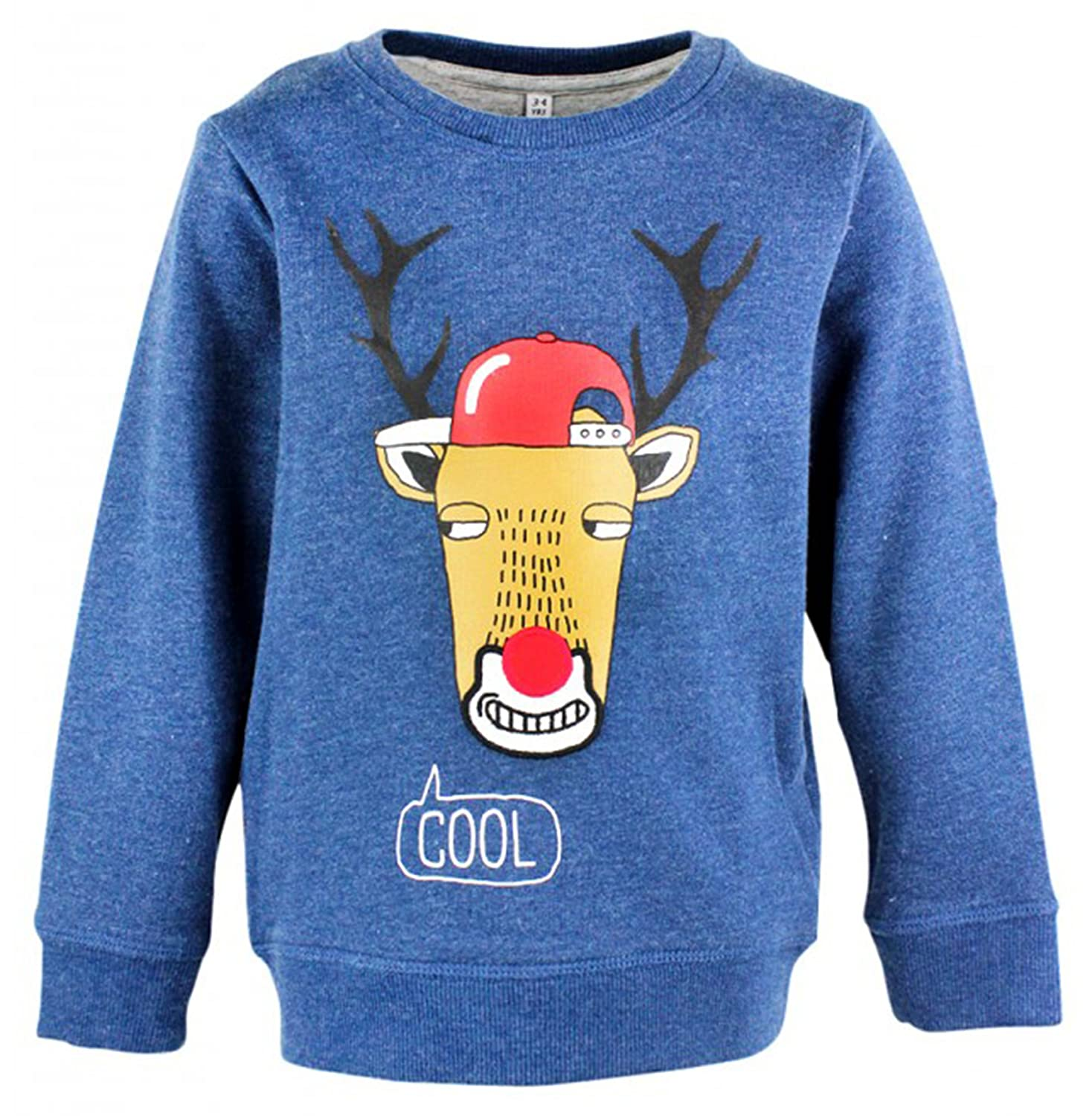 Boys Cool Team Rudolph Xmas Sweater Jumper Christmas Top Sizes from 12 Months to 2 Years