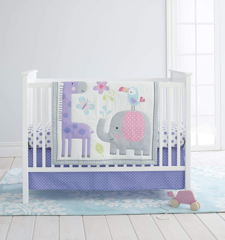 Cuddle Time 3 Piece Crib Bedding Set, Sweet Safari