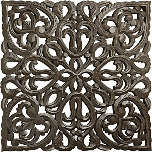 24″ Brown Solaris Eight Wooden Wall Panel with