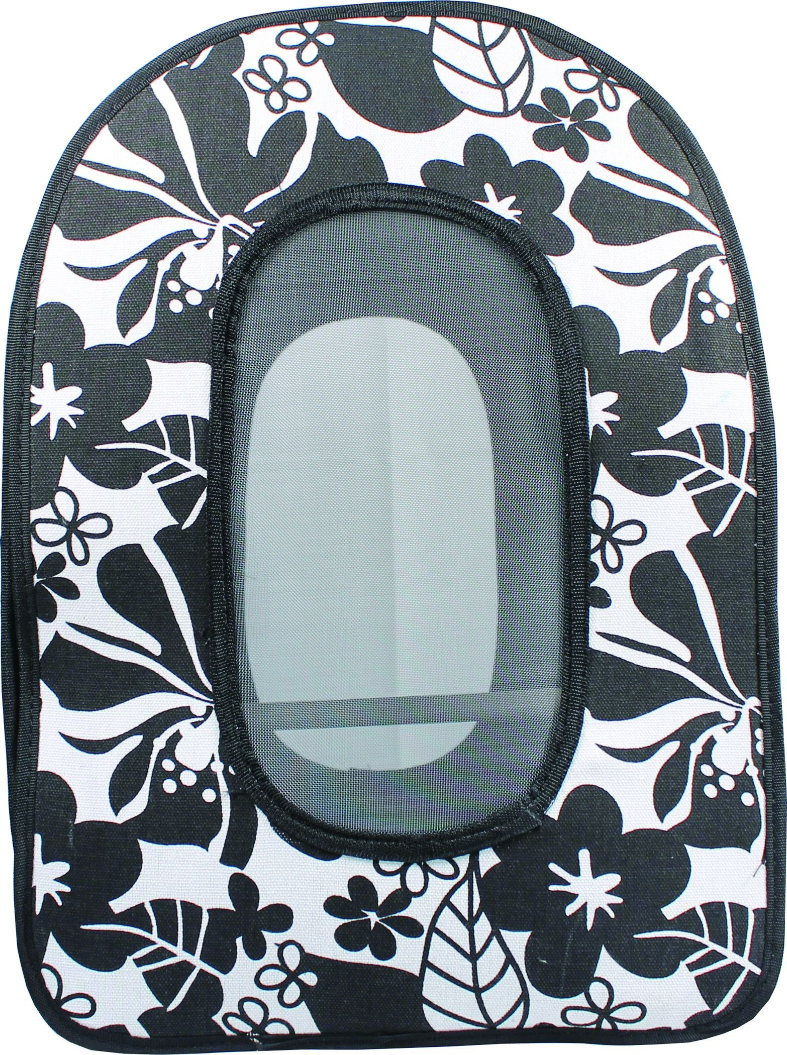 A&E Cage Company 001374 Black Happy Beaks Soft Sided Bird Travel Carrier, 13.5 x 9 x 18.5 (HB1506L Black)