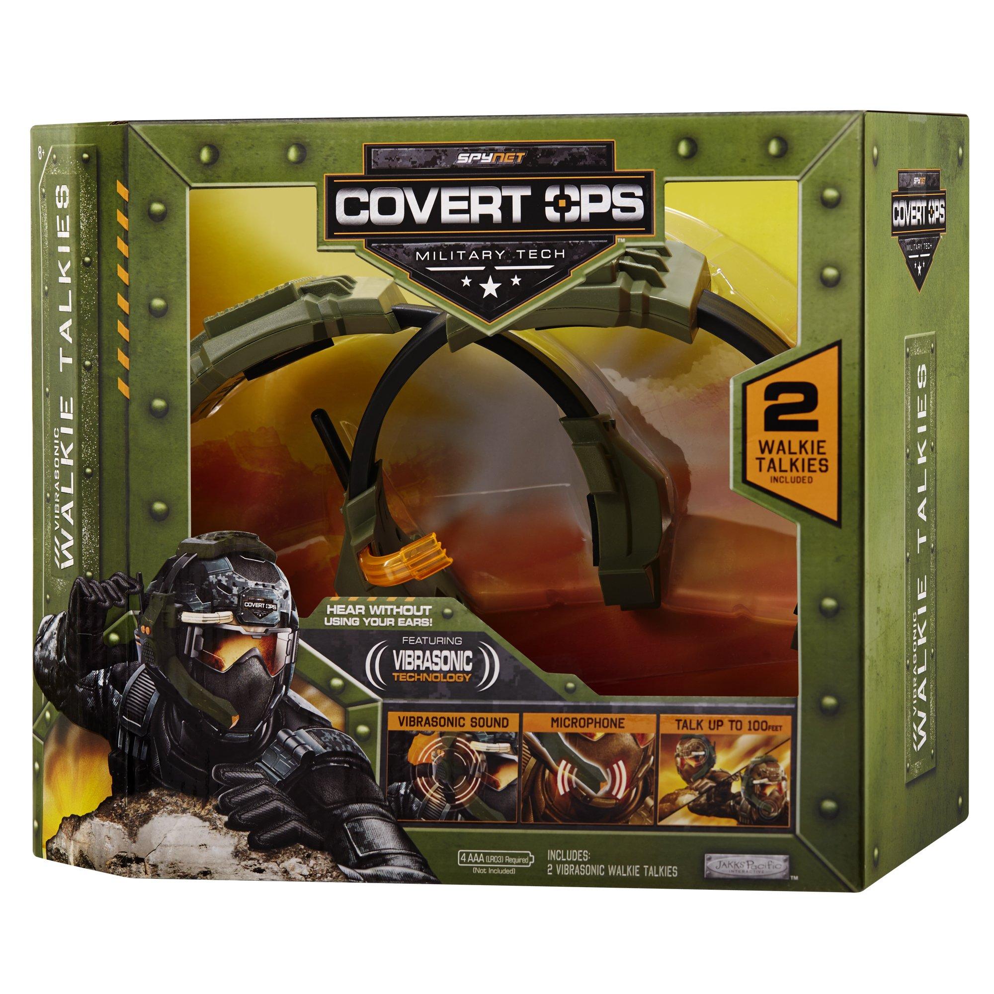 SpyNet Covert Ops Vibrasonic Walkie Talkie, Green by SpyNet (Image #4)