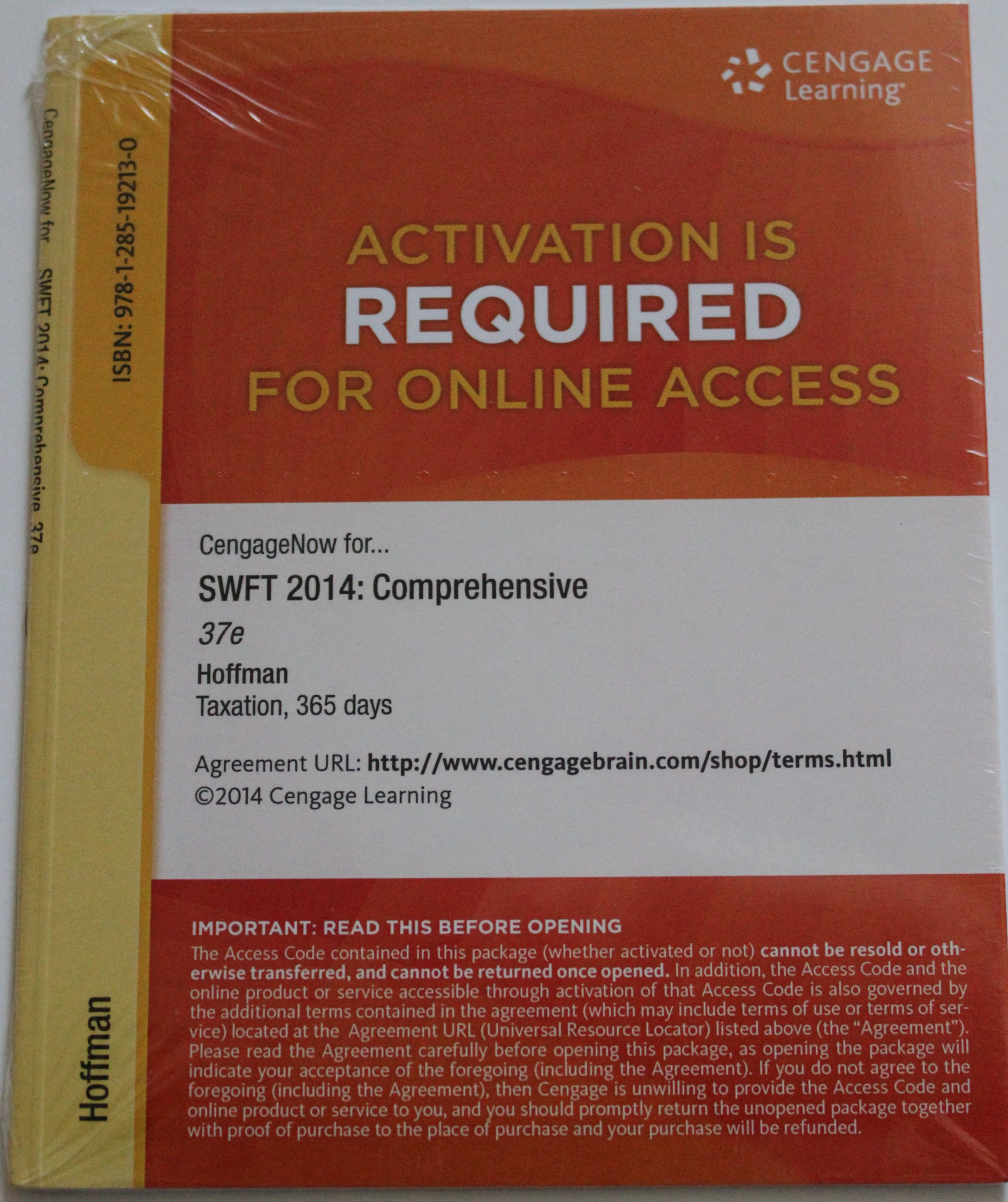 Read Online South-Western Federal Taxation 2014: Comprehensive, 37th Edition CengageNOW 2-Semester Instant Access for Hoffman/Maloney/Raabe/Young's Text fb2 book
