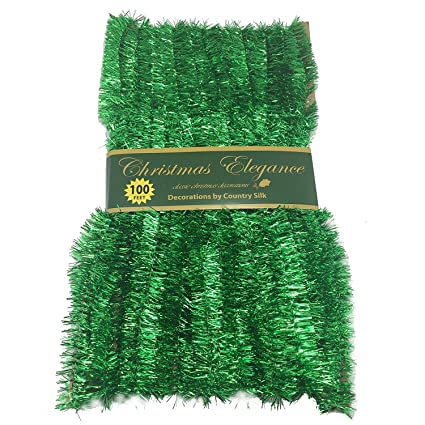 100 ft commercial length christmas garland classic christmas decorations green - Green Christmas Garland