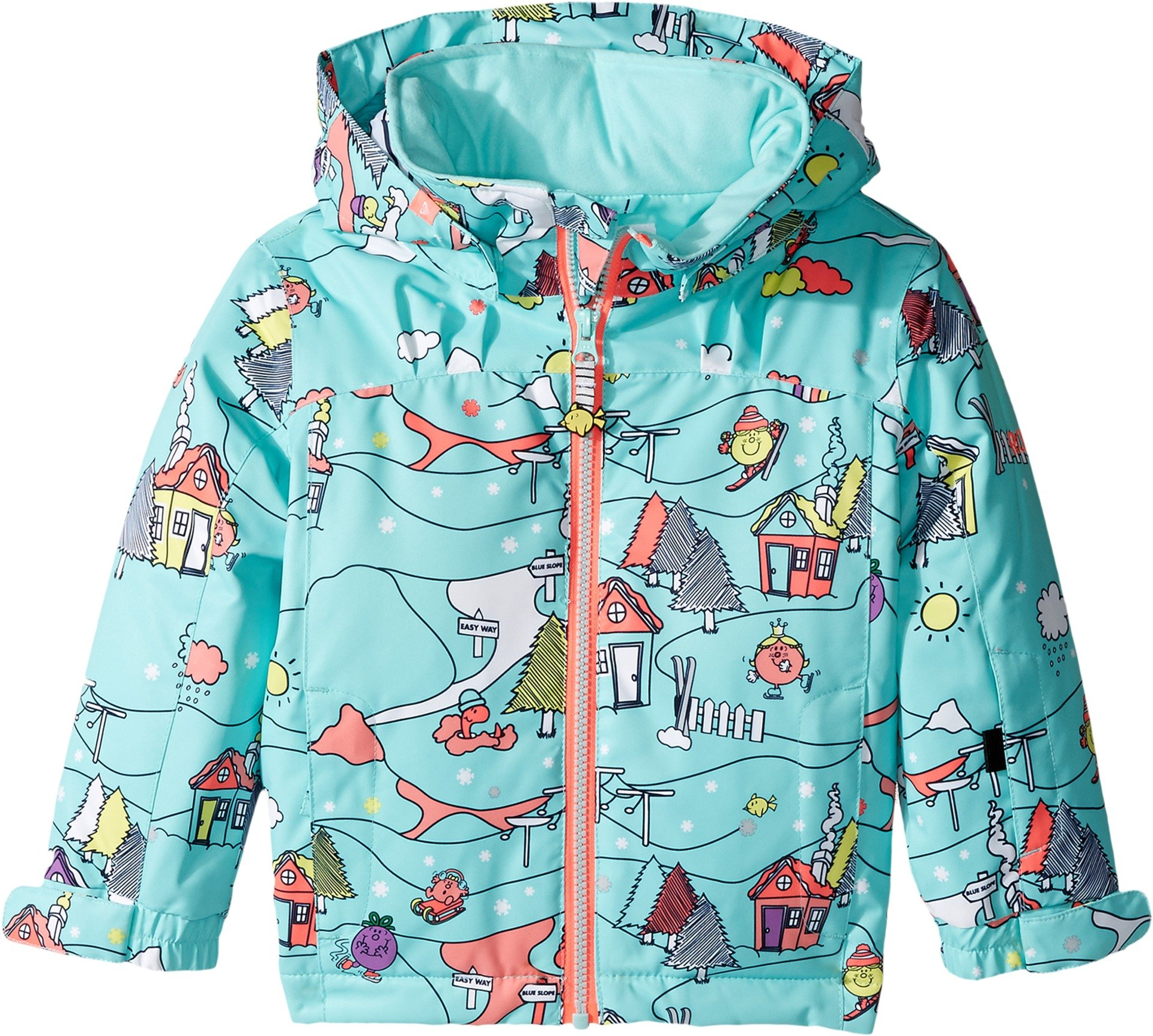 Roxy Little Girls' Mini Jetty Miss Snow Jacket, Aruba Blue_Little Miss Alpine, 4/5