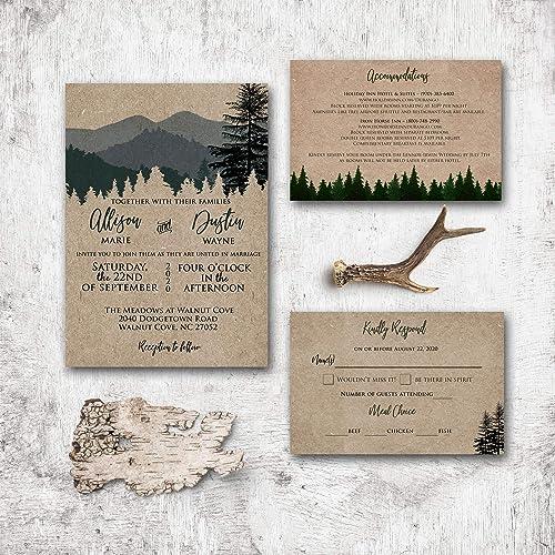 Custom Wedding Invitation /& RSVP Card