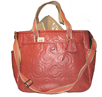 70666d9cc324 Amazon.com   Coach Multifunction Patent Leather Baby Diaper Bag   Baby