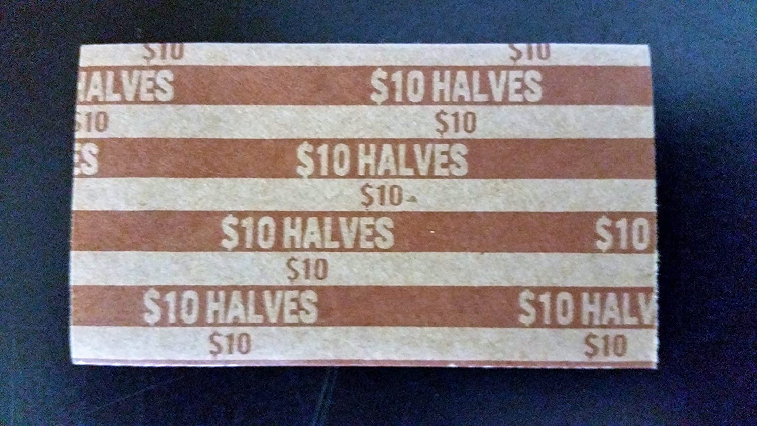 25 Halves Paper Coin Wrappers Half Dollar 1//2 $10 Coin Holders Sleeves Roll Tube