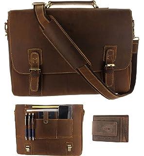 Amazon.com: Hølssen Satchel Briefcase Messenger 15