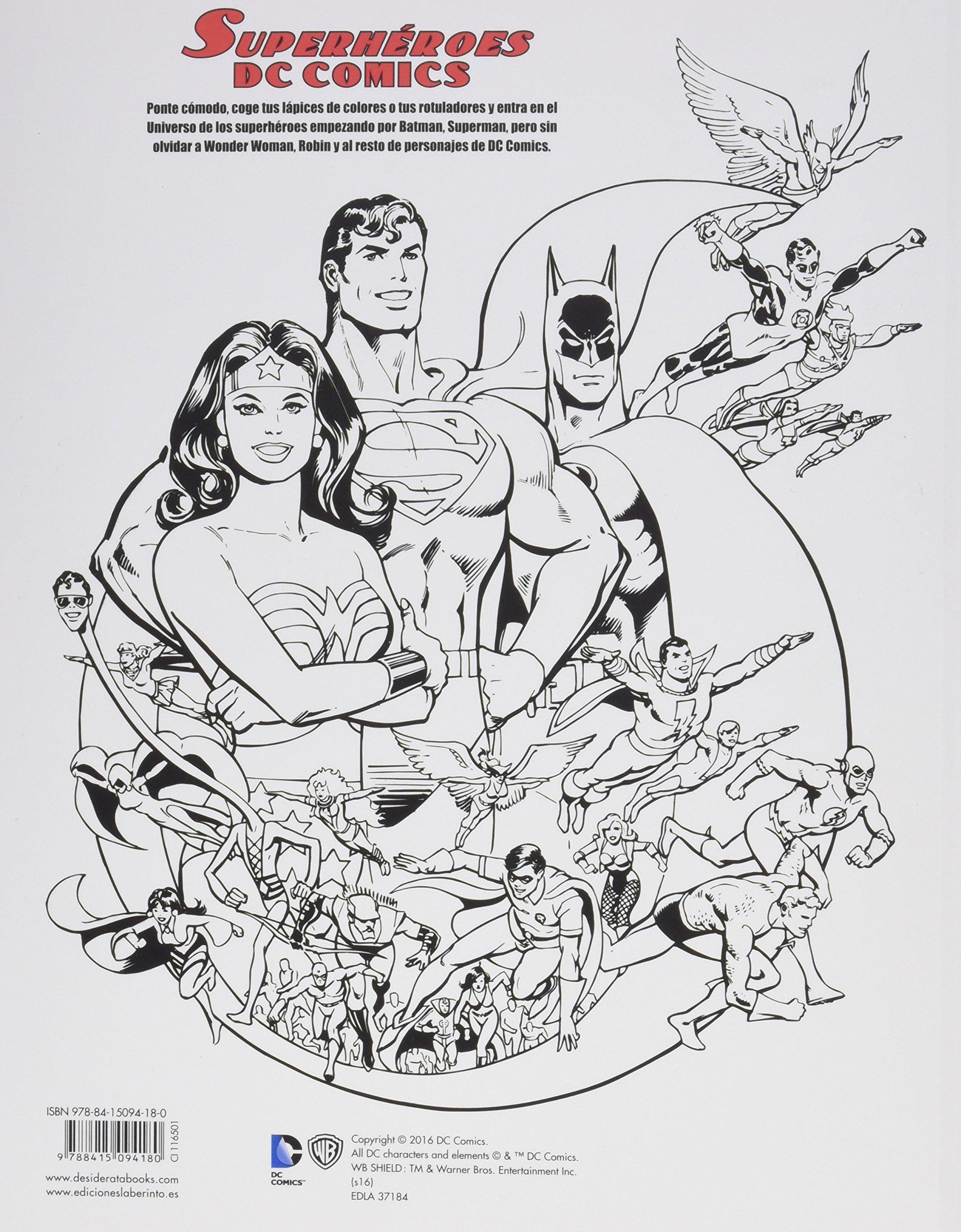 Dc Comics Superhéroes Libro Para Colorear Amazon Es Vv Aa