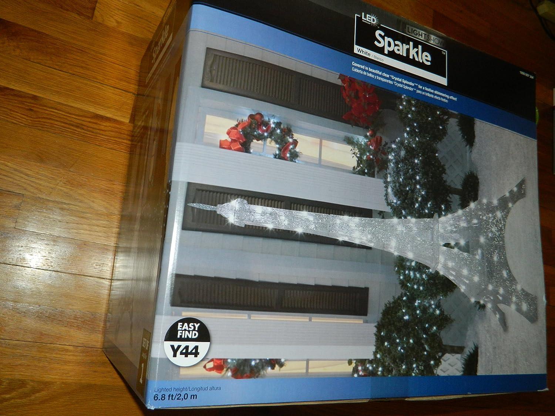 Amazon.com : 6.75 Ft Eiffel Tower Sparkle Crystal Splendor Outdoor Christmas Decoration -1 Pack : Garden & Outdoor