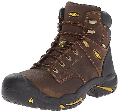 KEEN Utility Men's Mt. Vernon 6 inch Soft-Toe Work Boot, Cascade Brown