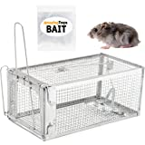The Amazing Rat Trap w/Starter Bait - Humane Live Cage Catches Rats, Mice, Hamsters, Moles, Weasels, Gophers, and Other Small Rodents