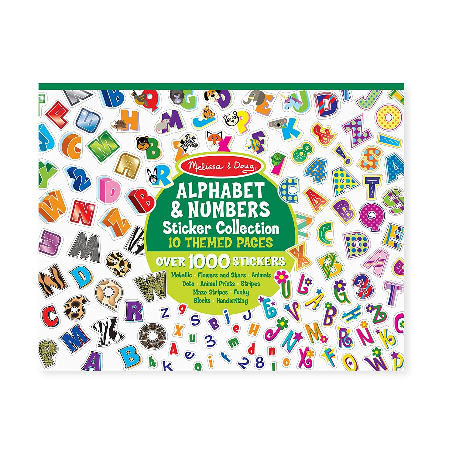 Melissa /& Doug Sticker Collection 1000 Letter and Number Stickers Alphabet and Numbers
