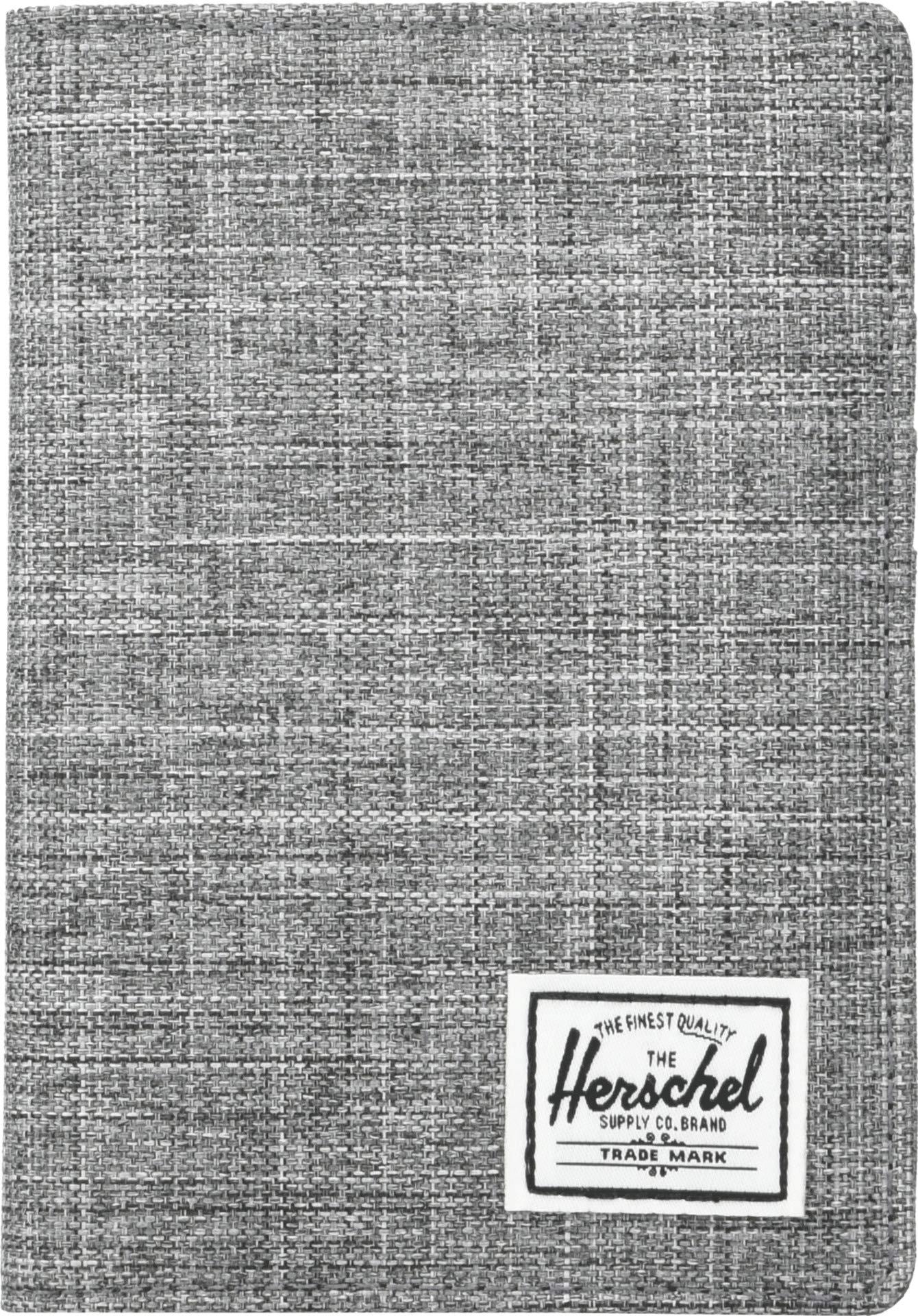 Herschel Men's Raynor RFID Passport Holder, raven crosshatch, One Size by Herschel