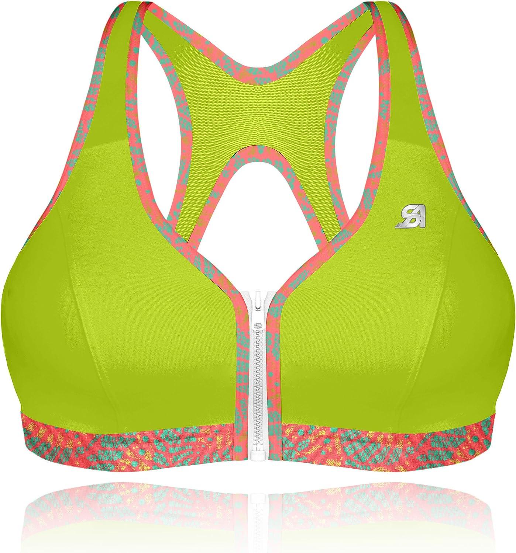 Shock Absorber Active Zipped Plunge, Sujetador Deportivo para Mujer