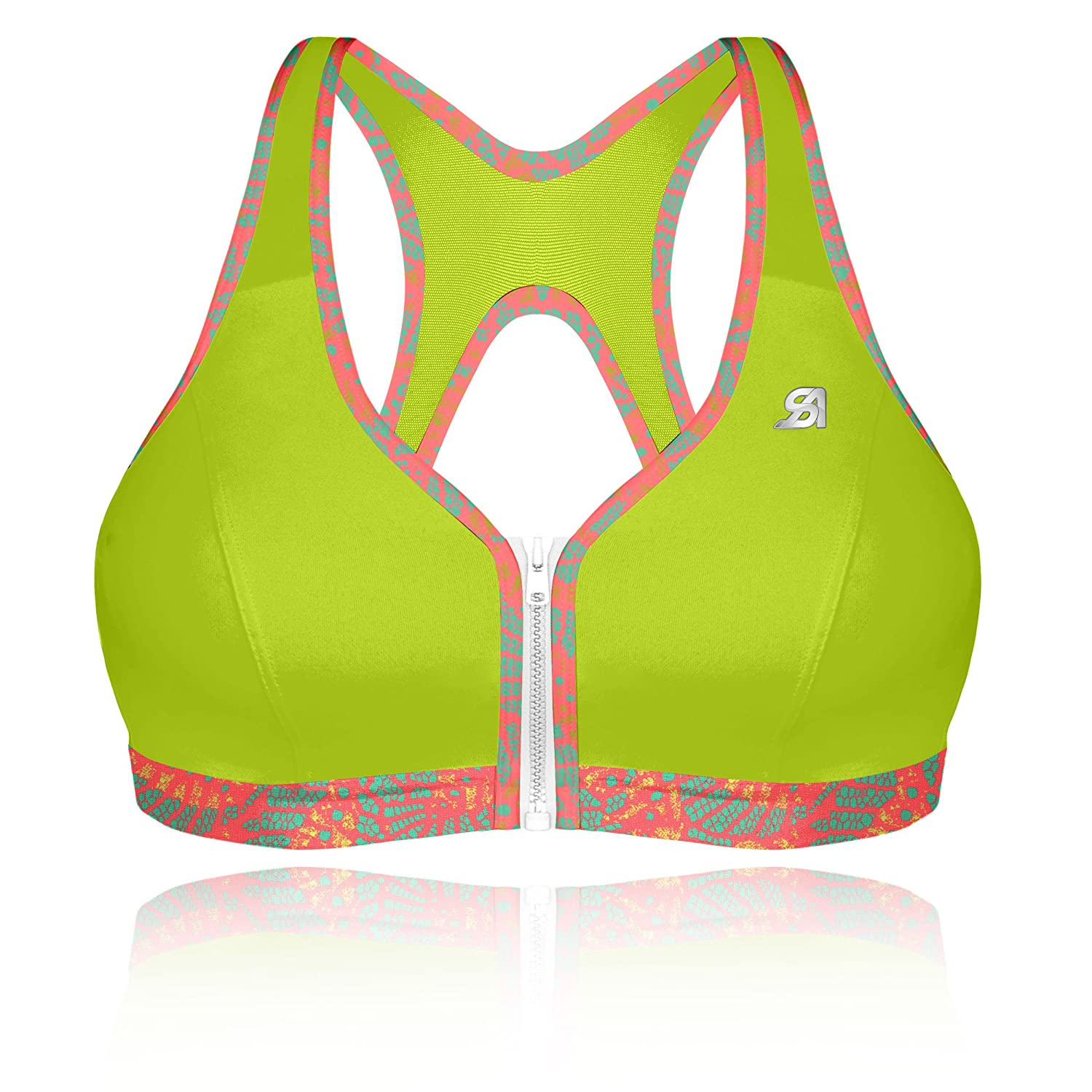 TALLA 75D. Shock Absorber Active Zipped Plunge, Sujetador Deportivo para Mujer