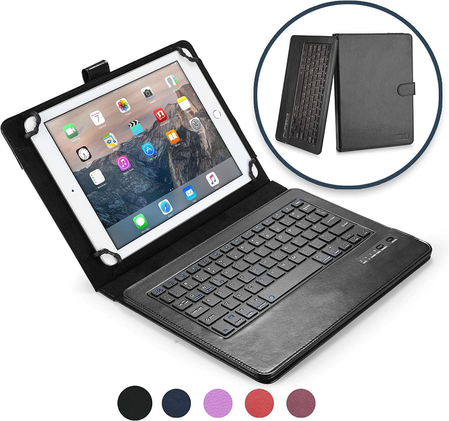 Universal Executive Wallet Case Cover Folio Fits Teclast A10S 10.1 Inch Tablet P