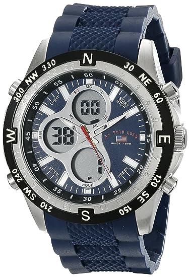 U.S. Polo Assn. Sport US9137 Reloj deportivo análogo digital con brazalete  de silicona 73417759aa17