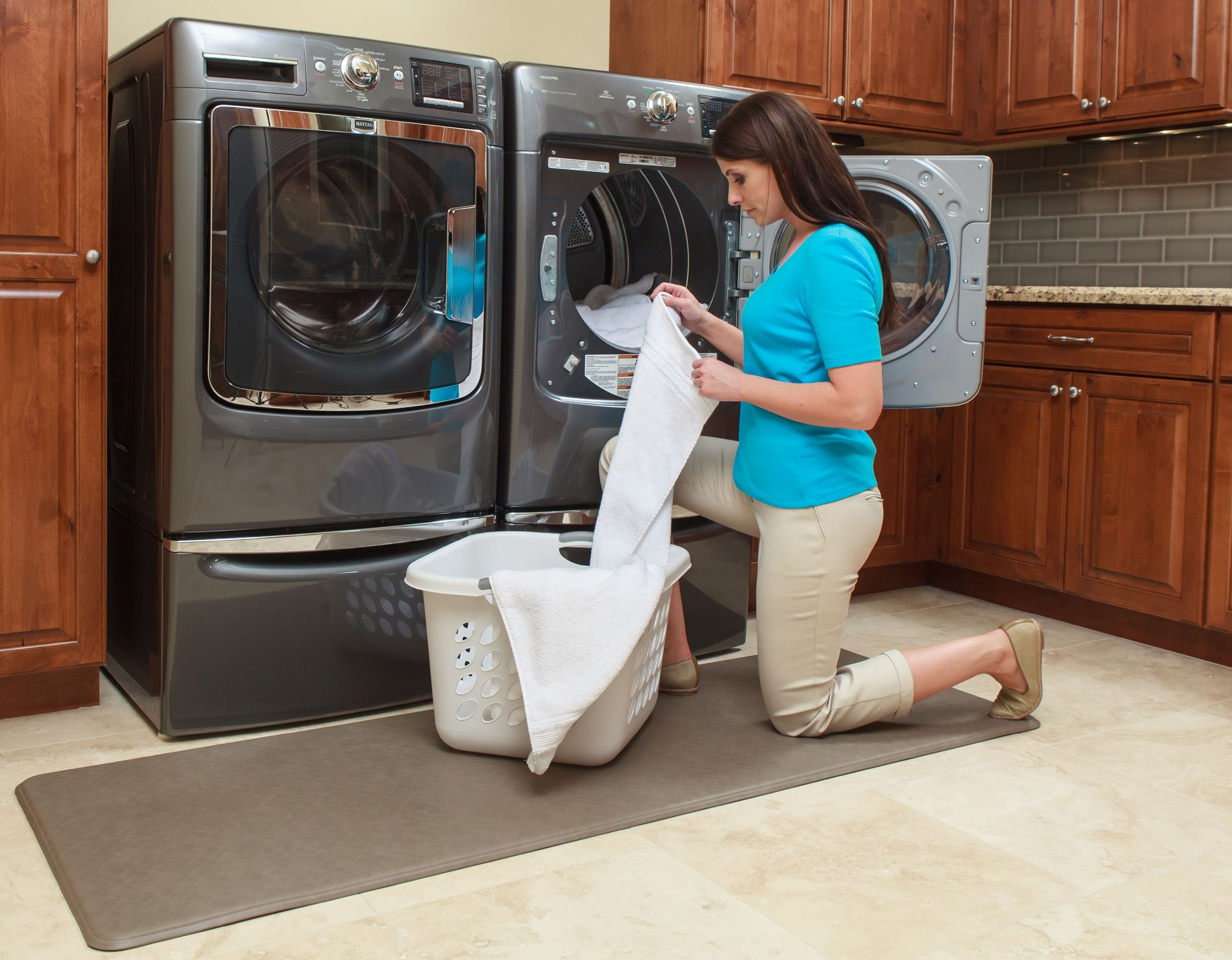 Imprint Cumulus9 Kitchen Mat Nantucket Series Island Area Runner  26 in. x 72 in. x 5/8 in. Mocha by Imprint (Image #6)