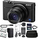 Sony Cyber-Shot DSC-RX100 VA DSC-RX100 V(A) Digital Camera + Sony NP-BX1/M8 Battery Spare NP-BX1 Battery, 64gb SDXC…