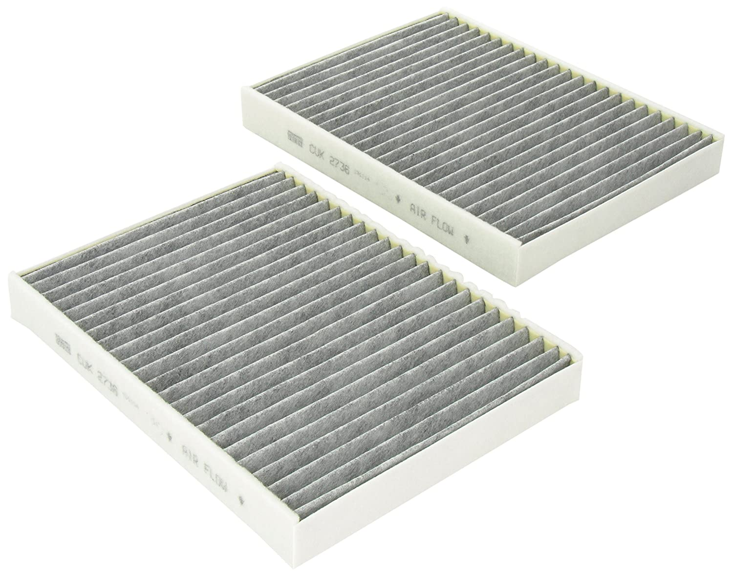 Mann-Filter CUK 2736-2 Cabin Filter With Activated Charcoal for select BMW models -Set of 2 CUK2680