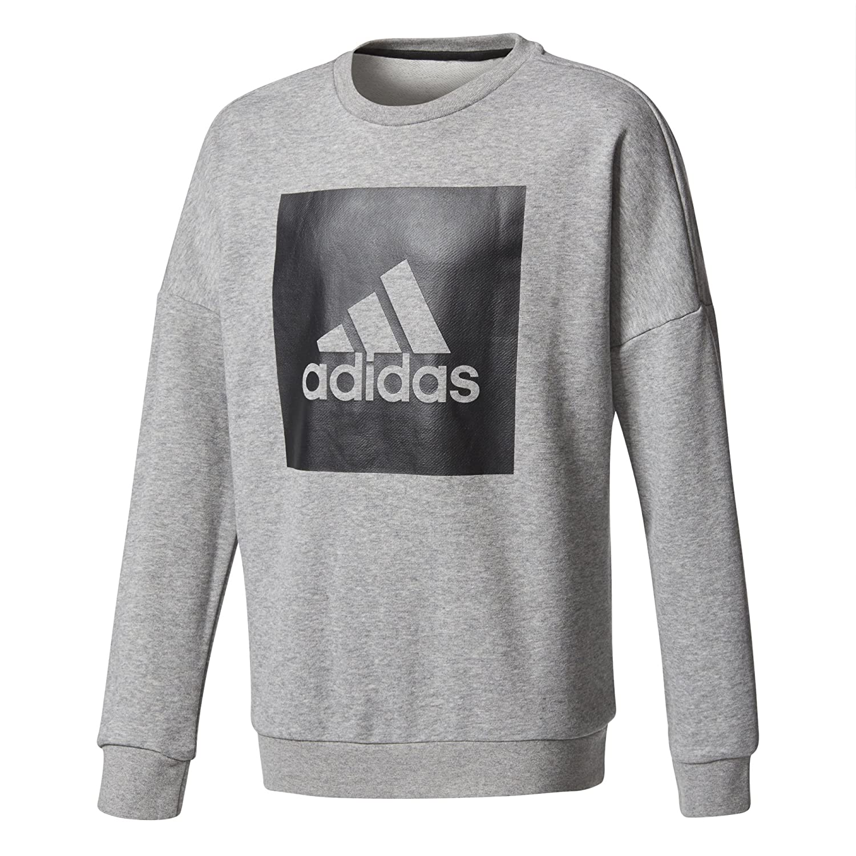 adidas YB Logo Crew, Felpa Bambino
