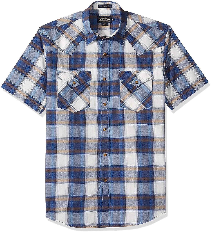 Pendleton Mens Short Sleeve Button Front Frontier Shirt