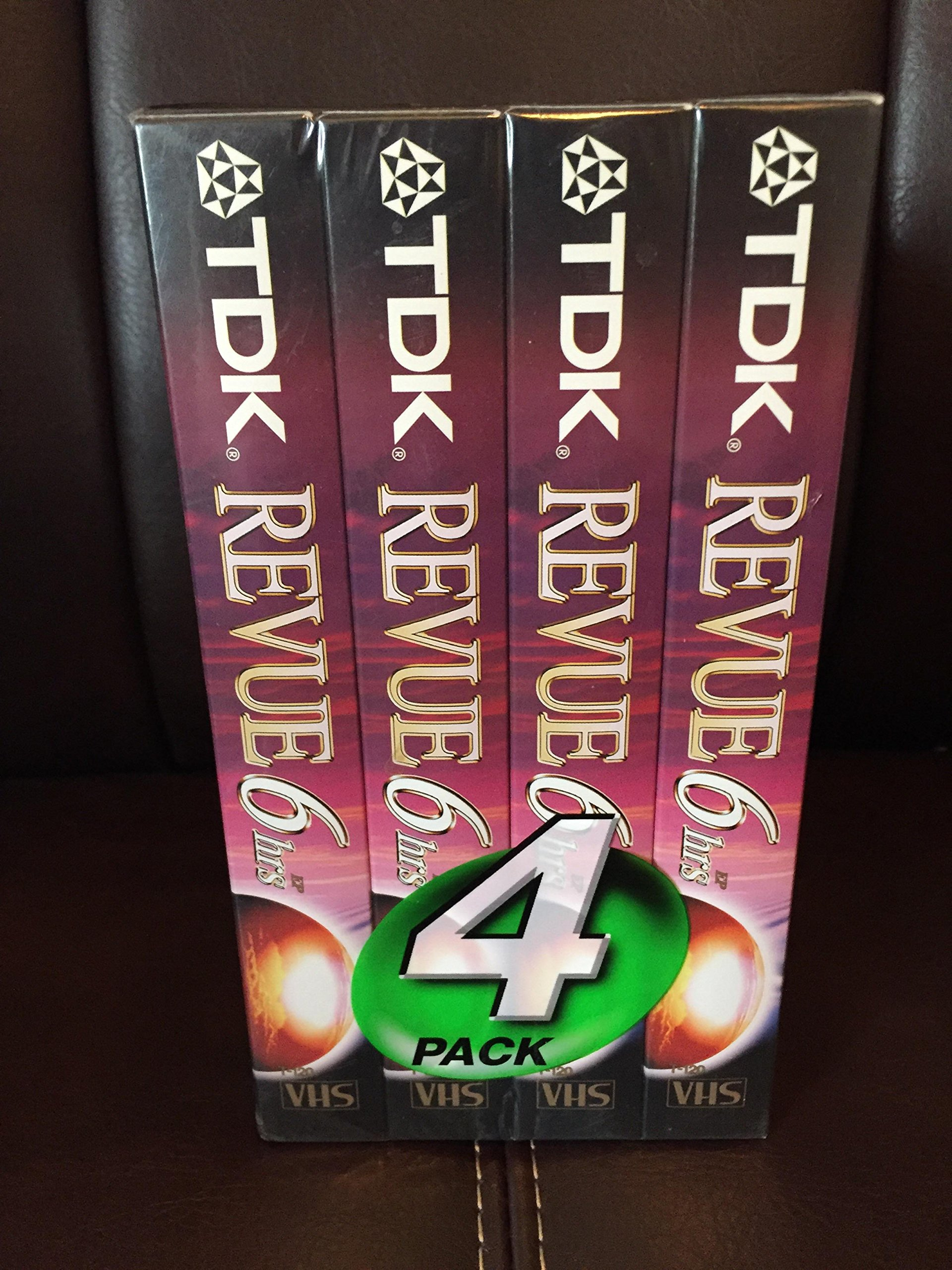 TDK 4 Pack T-120 VHS Video Tape by TDK