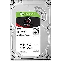 "Seagate IronWolf, Disco duro interno de 4 TB para sistemas Bay 1-8 NAS (3,5"", 5900 RPM, hasta 180 MB/s), SATA con 6 Gbit/s"