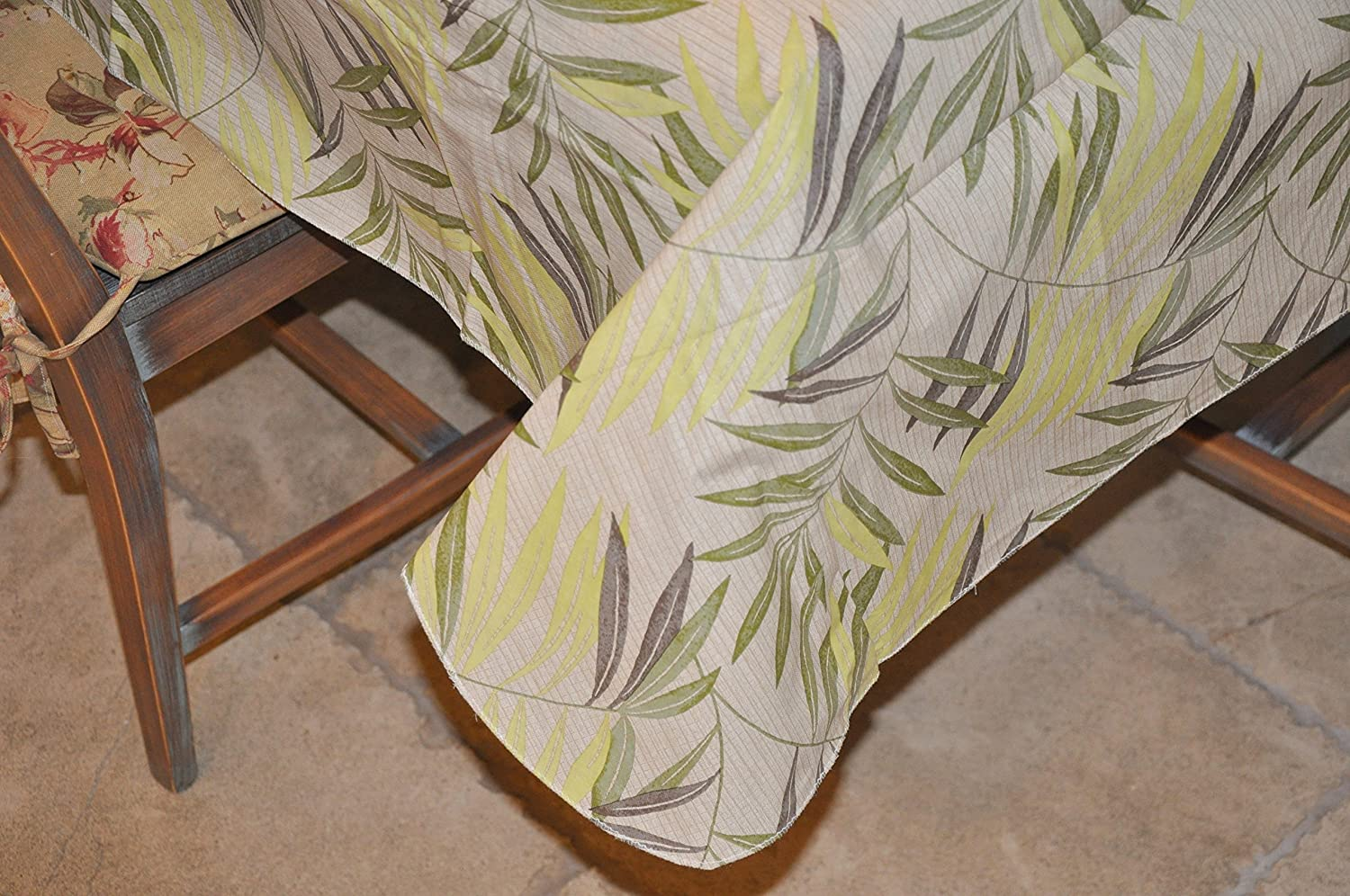 Elastic Edged Flannel Backed Vinyl Fitted Table Cover and Stitched Edge Flannel Backed Vinyl Tablecloth 54 x 72 Drop, Contemporary Lemon