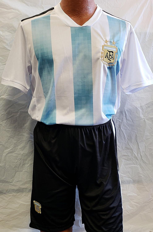 新しい。Argentina National Teamロシア2018 Short and Jersey 2 pcサイズLarge B07CKKTT1X